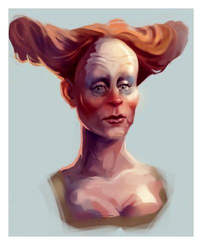 Portrait of a Clown Lady